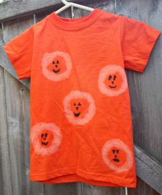 halloween fashion for kids: pumpkin (not so) tie dye(d) shirt