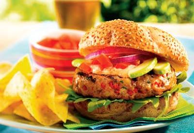 куриный гамбургер с острым перцем