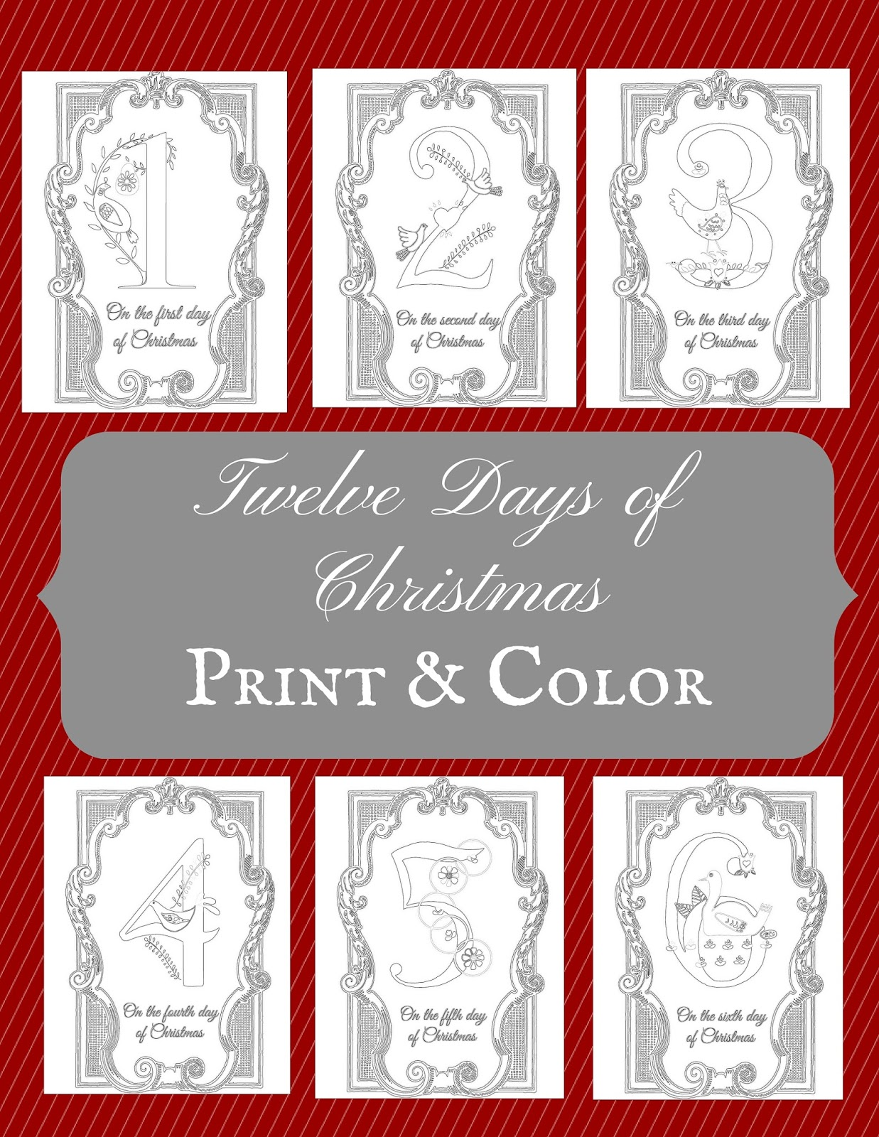 The Prudent Pantry Twelve Days Of Christmas Coloring Pages Twelve Days Of Printable Coloring Pages