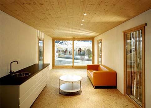 Arquitectura arquidea lo ltimo en casas prefabricadas - Interior casas de madera ...