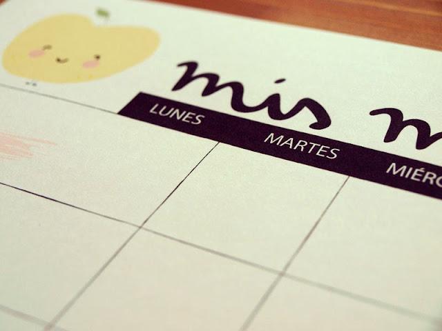 [freebie] Planning imprimible para menú semanal La tienda de dibus