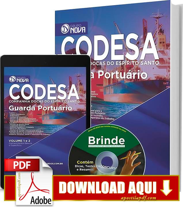 Apostila CODESA 2015 PDF Download Grátis Guarda Portuário