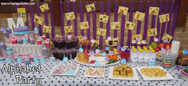 Alphabet Party, Letter Party, letters, alphabet, food alphabet