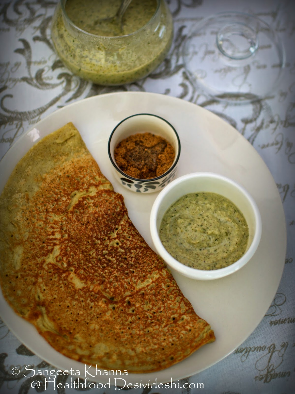making breakfast dosa interesting with vegetable based chutneys | making chutneys with ivy gourd and long beans