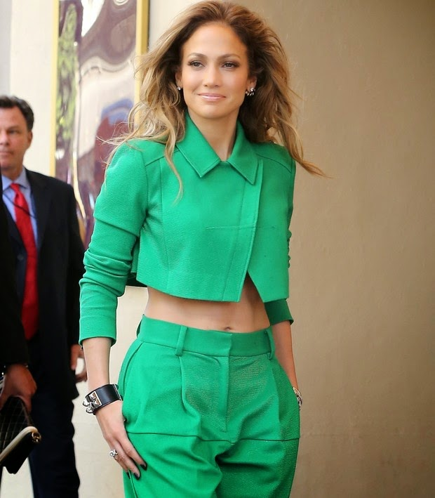 Jennifer Lopez shows good form with monochromatic look