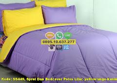 Harga Sprei Dan Bedcover Polos Lilac-yellow/ungu-kuning/ Jual