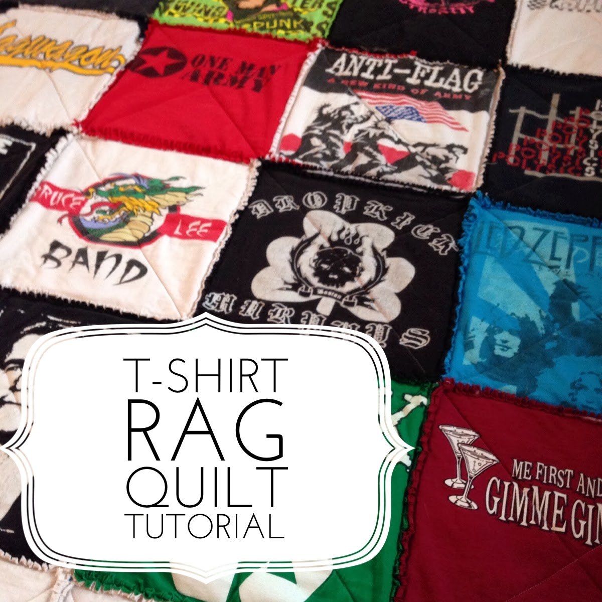 T Shirt Rag Quilt Tutorial Quilting In The Rain