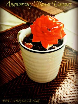 fourth anniversary, flower dessert, ice cream dessert