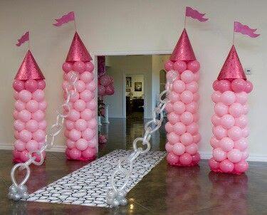 Castillo con globos