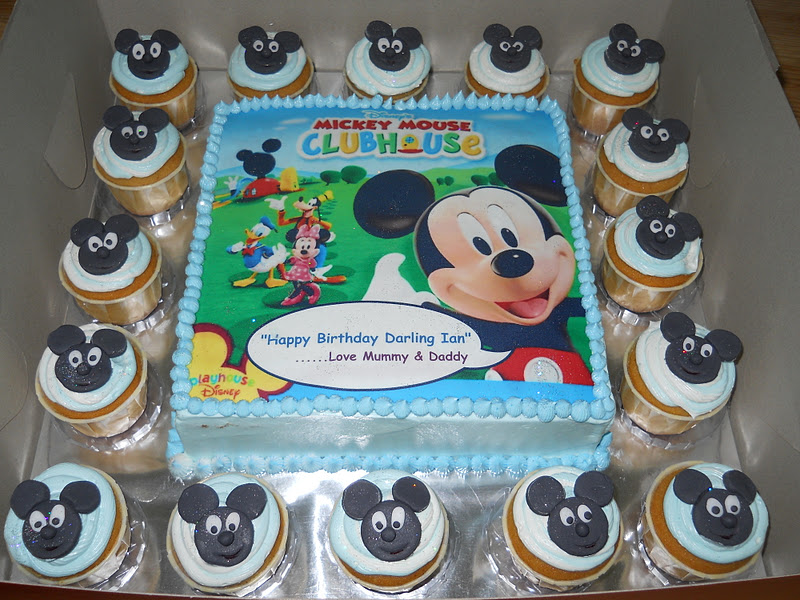 Mickey Mouse Cake Design Boiled Icing