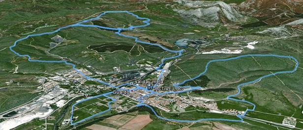 Imagen google maps de la ruta San Antonio 2012 Guardo - Club deportivo Mtb Guardo