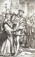 Grabado de la obra de Shakespeare Enrique VIII