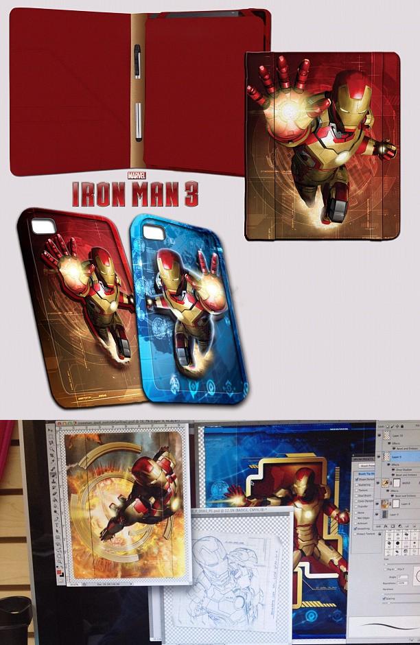 Fundas para Ipad y Iphone de Iron Man 3