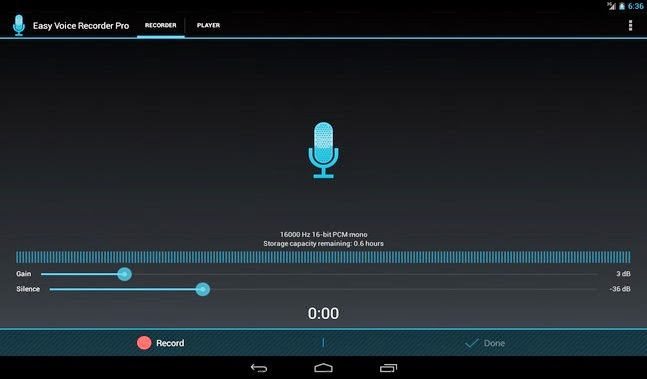Easy Voice Recorder Pro android apk - Screenshoot