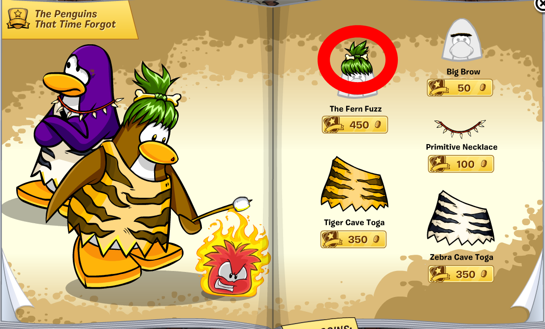 Club Penguin Costume Trunk Catalog Cheats