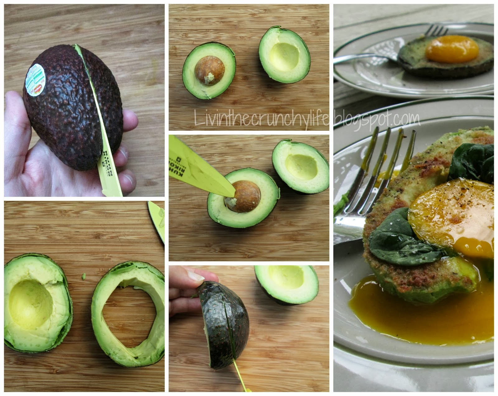 Fried Egg in an Avocado (Whole Egg or Egg Yolk Only)