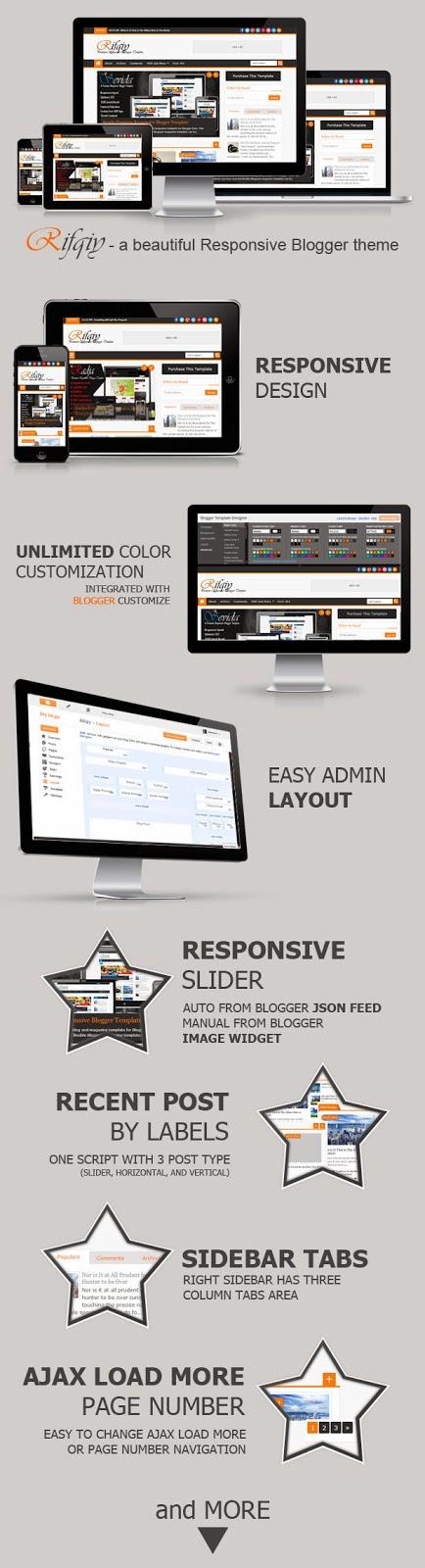 Rifqiy Template - Mẫu Blogspot Responsive hoàn hảo cho trang tin tức