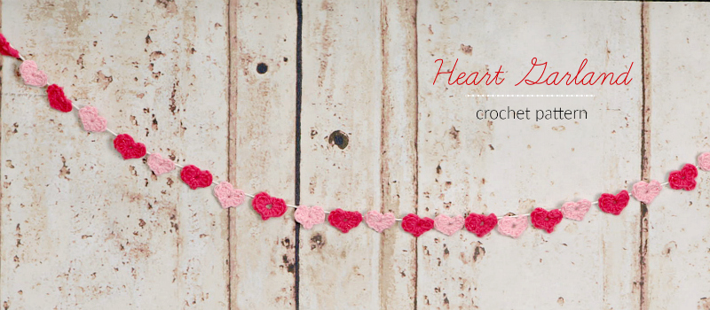 Domestic Bliss Squared: Valentine\'s Day heart garland free crochet ...