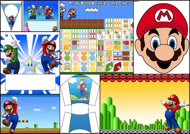 Super Mario Bros: Kits para Imprimir Gratis, Máscaras y Más.