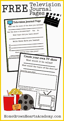 Free journal pages for homeschooling