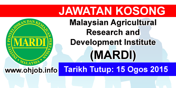 Jawatan Kerja Kosong Malaysian Agricultural Research and Development Institute (MARDI) logo www.ohjob.info ogos 2015