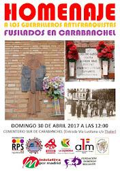 Homenaje a los guerrilleros antifranquistas fusilados en Carabanchel