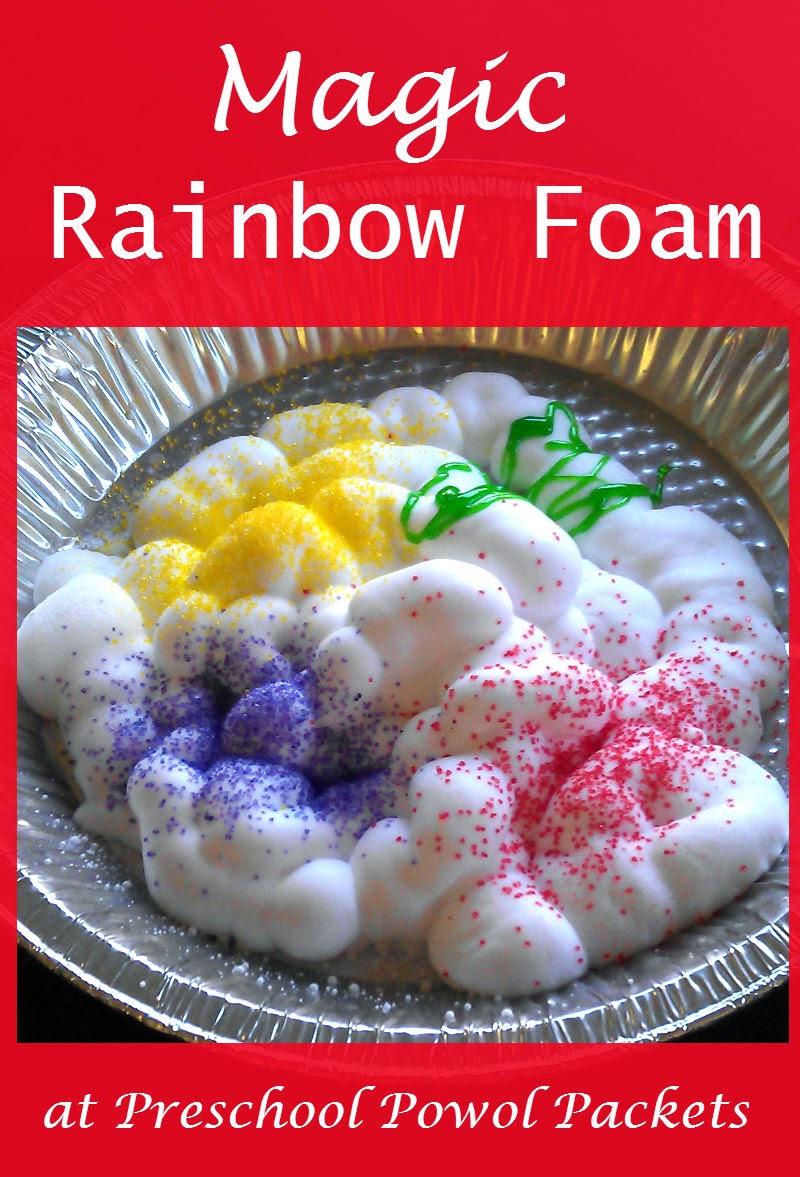 Magic Rainbow Foam {Preschool Sensory Science Experiment ...