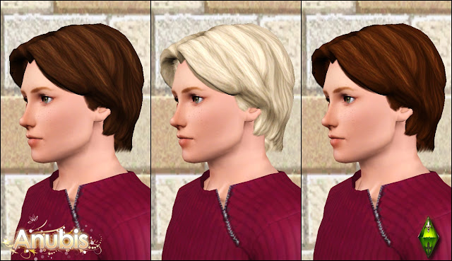 The Sims Medieval Male Hairs Set by Anubis360 AmHairMedWavy_2