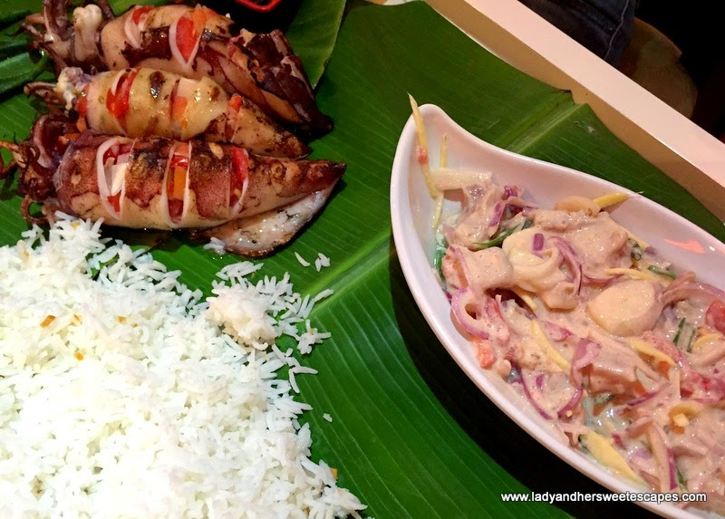 Asian Flavors Dubai squid in boodle fight