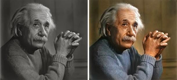 Albert Einstein - manipulação digital - Sanna Dullaway