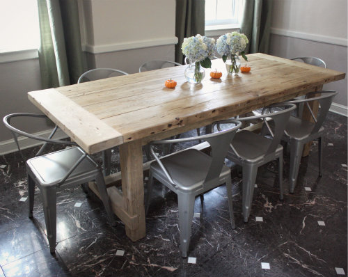 Apart The Story Of Our Dining Room Chairs - Industrial dining room chairs