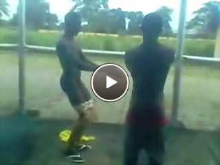 black gay man naked video
