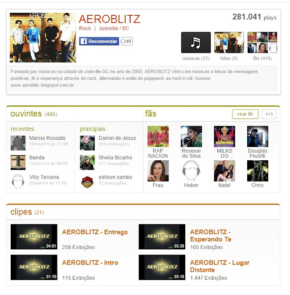 Aeroblitz no Palco MP3...