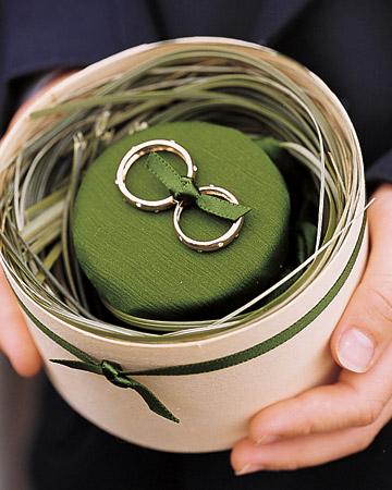 Anillo boda verde