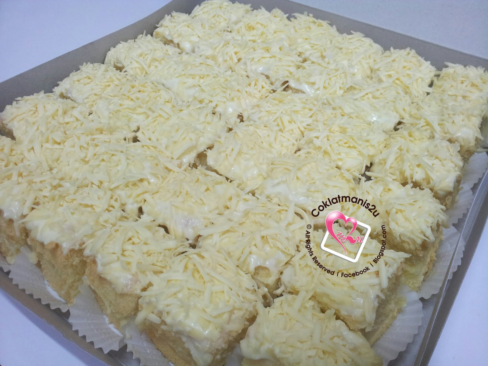 Snow Cheese Slice Cake