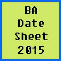 University of Azad Jammu and Kashmir BA Date Sheet 2016