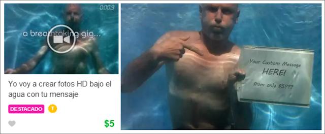 Publicidad bajo el agua: fotos y vídeos