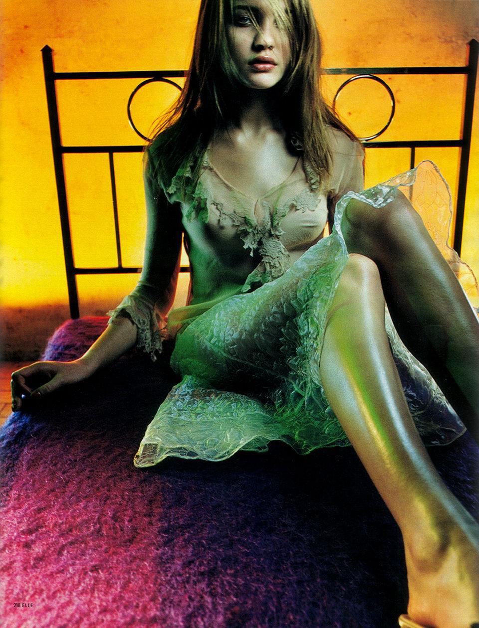 Natalia Vodianova wearing Alberta Ferretti in Elle Denmark April 2000