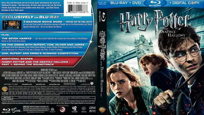 DVD cover blu-ray Harry Potter and the Deathly Hallows, Part 1.