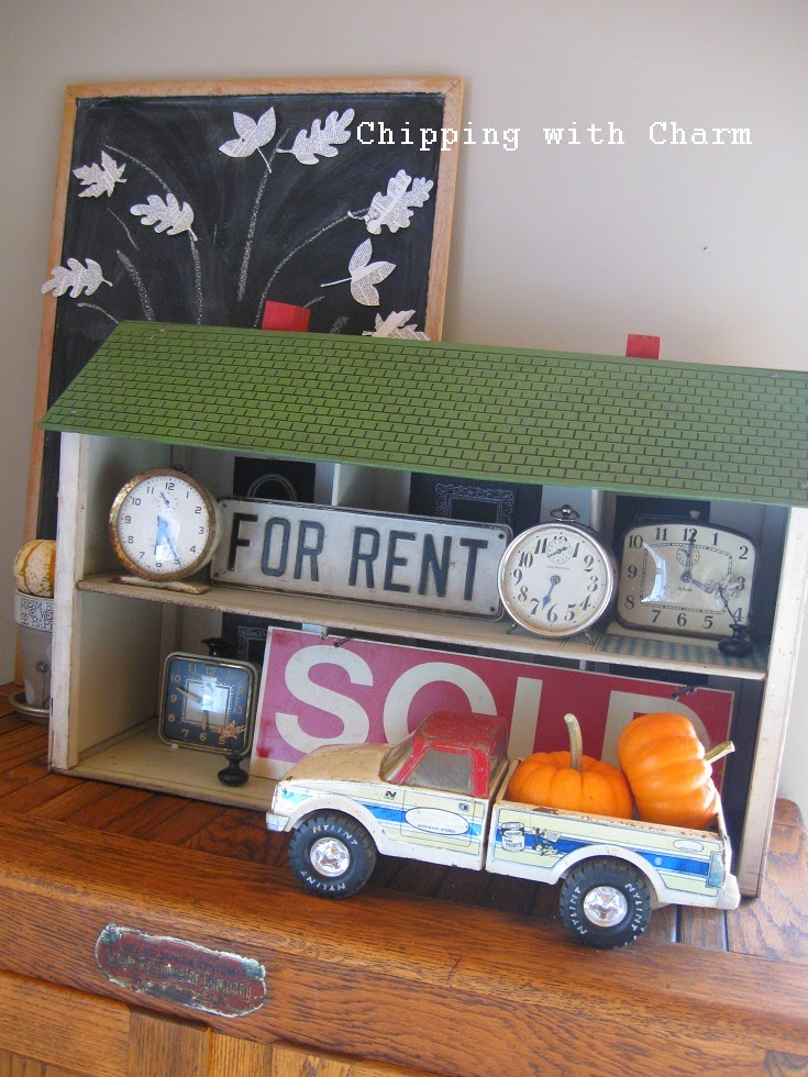 Chipping with Charm: Fall Dollhouse Shelf...http://www.chippingwithcharm.blogspot.com/