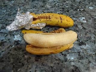 los plátanos cinco días después. Perfectos