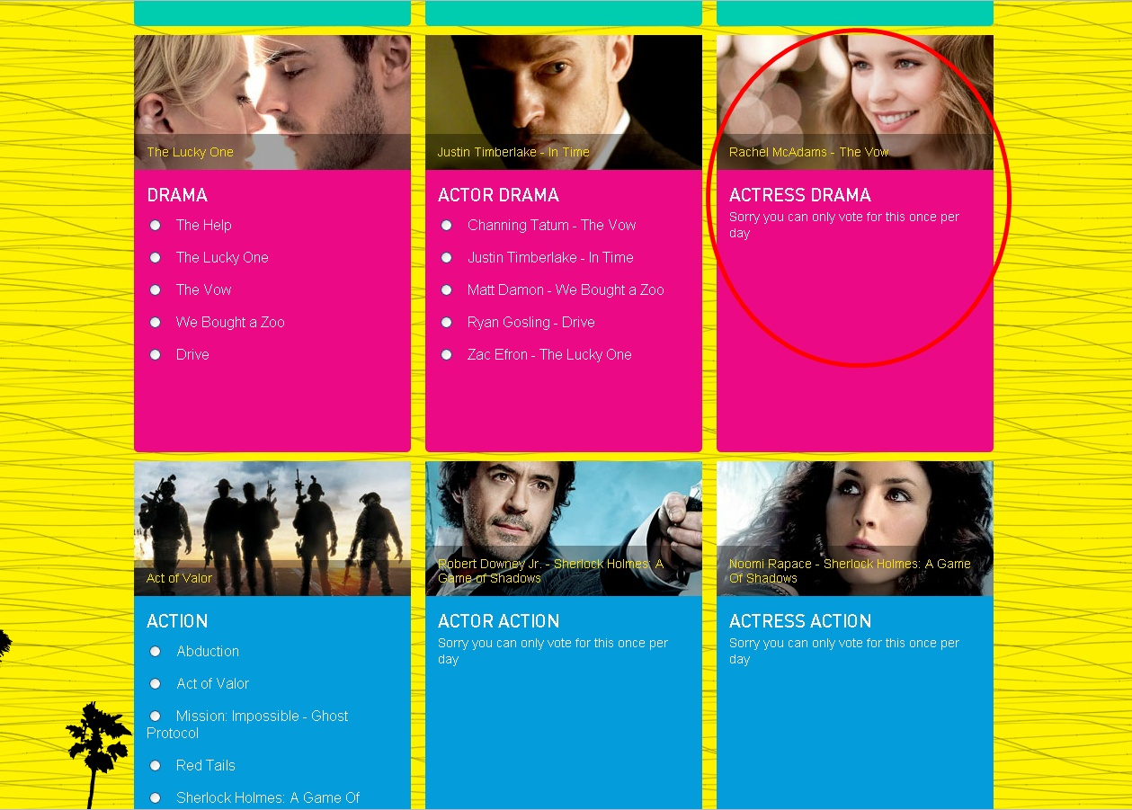 awards voting for teen choice