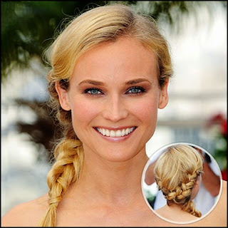 french braid updo