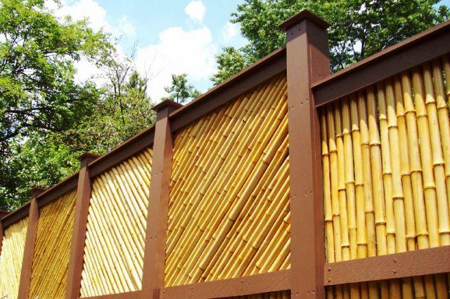 Desain Pagar Bambu Unik Cantik Minimalis Sederhana