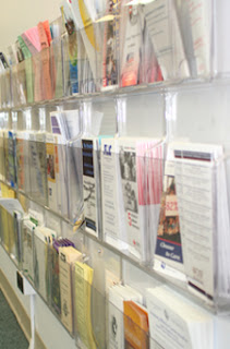 Stone-Hayes informational pamphlets are displayed in the office