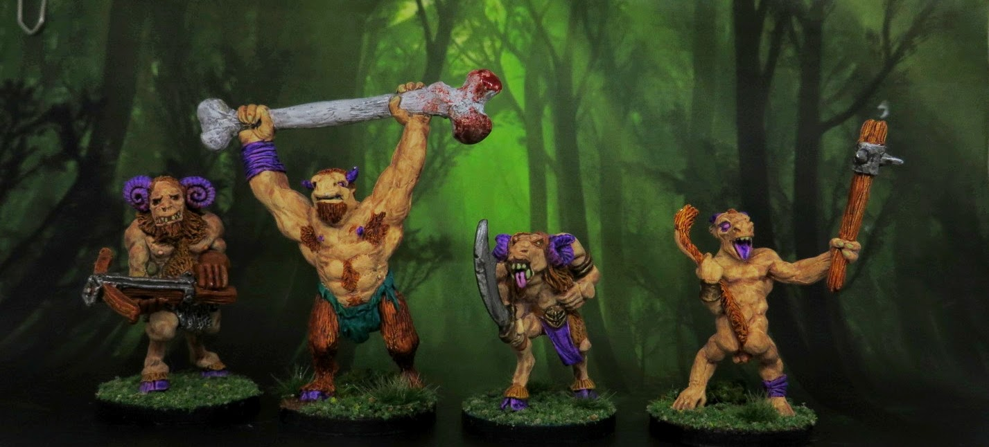 Beastmen, Goatkin, Harlequin, fenris, Games, Workshop, Miniatures, painted