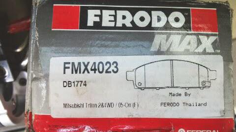 Kampas Rem Mitsubishi Triton 07 2WD & 4WD,Pajero Sport 2010