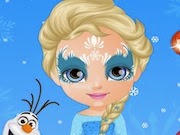 Baby Barbie Frozen Face