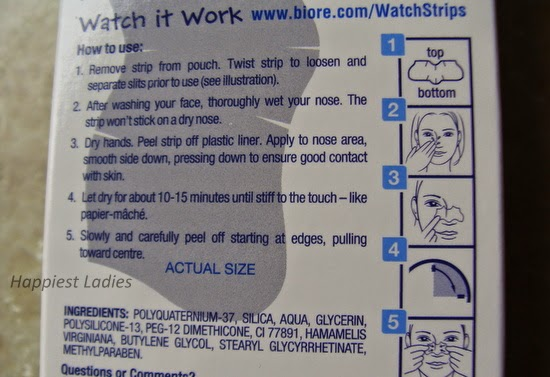 Biore pore strips usage