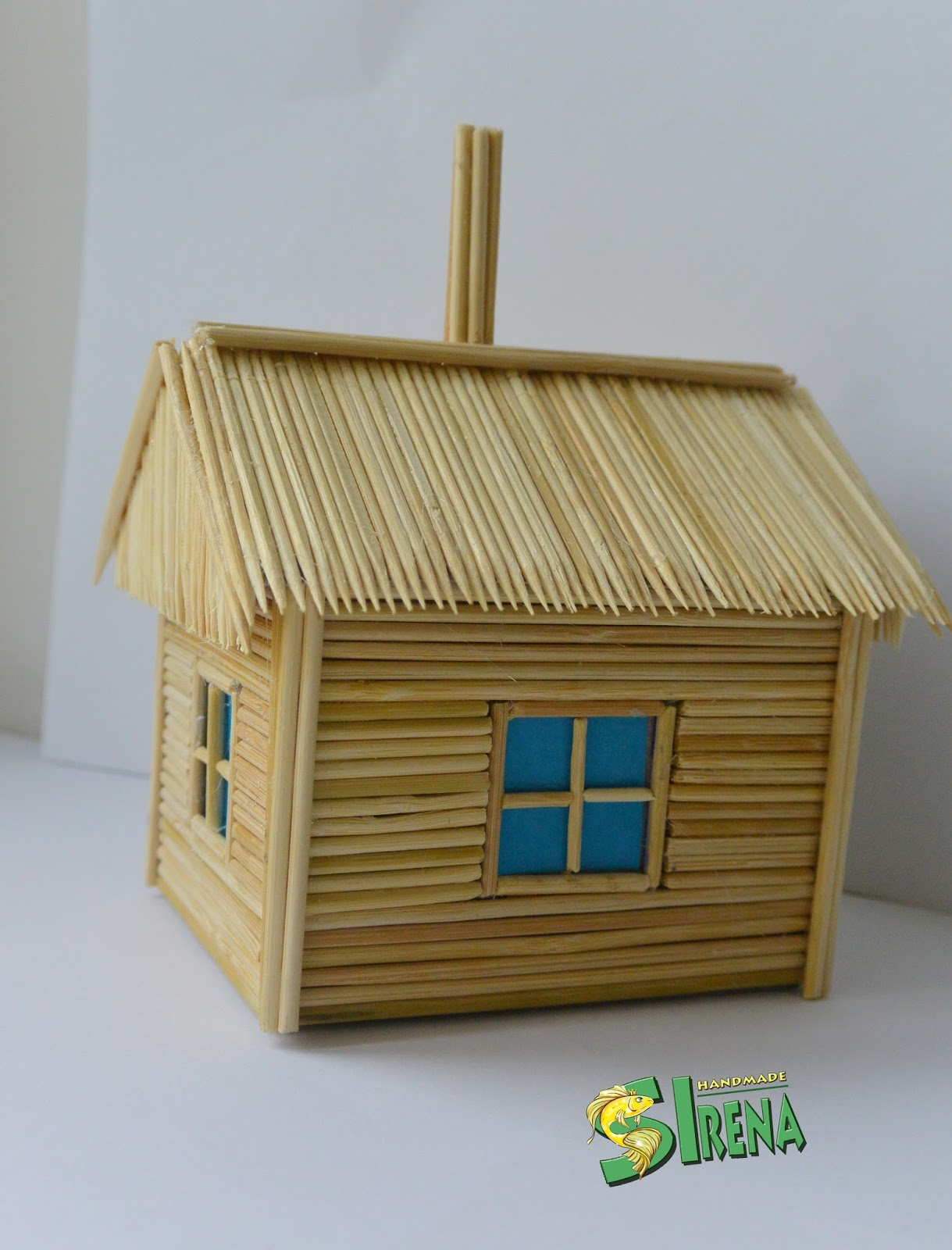 Как сделать домик из шпажек своими руками 64